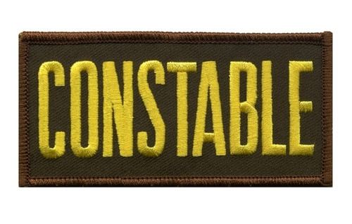 """CONSTABLE Chest Patch, Medium Gold/Brown, 4x2"""""""