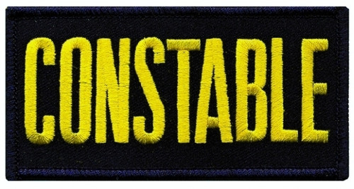 """CONSTABLE Chest Patch, Medium Gold/Midnight, 4x2"""""""