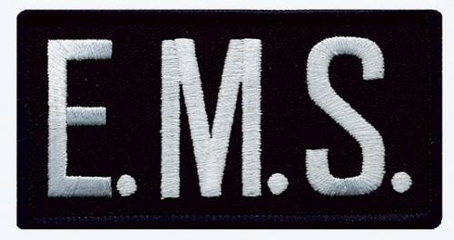 "E.M.S. Chest Patch, White/Midnight Blue, 4x2"""