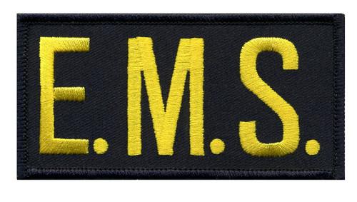 """E.M.S. Chest Patch, Medium Gold/Midnight, 4x2"""""""