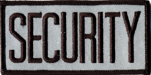 """SECURITY Chest Patch, Reflective, Black/Reflective Grey, 4x2"""""""