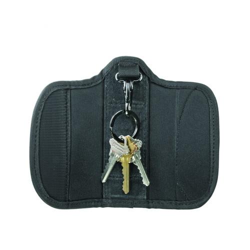 "Ballistic Silent Key Holder with Clip, (Fits 2-1/4"" Belt)"