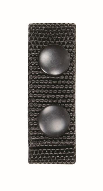 """Ballistic Standard Belt Keepers 7/8"""", Fits: 2""""W Duty Belt, Black, Black Snaps"""