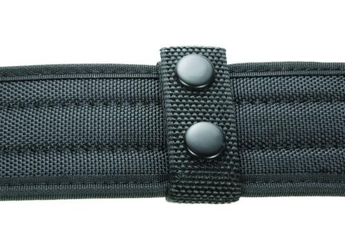 """Ballistic Standard Belt Keepers, 7/8"""", Fits: 2.5""""W Duty Belt, Black, Black Snaps"""