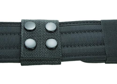 """Ballistic Extra Wide Belt Keepers 2"""", Fits: 2.5""""W Duty Belt, Black, Black Snaps"""
