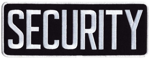 """SECURITY Back Patch, Hook, White/Midnight Blue, 11x4"""""""