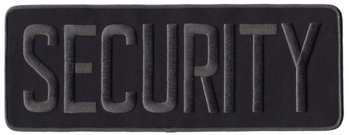 """SECURITY Back Patch, Hook, Grey/Midnight Blue, 11x4"""""""