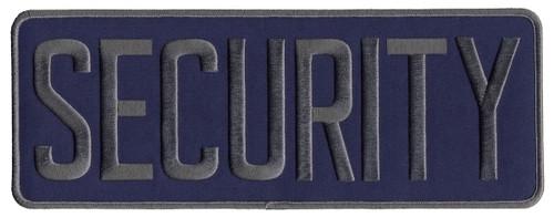 """SECURITY Back Patch, Hook, Grey/Navy Blue, 11x4"""""""