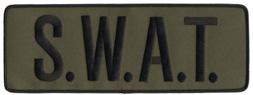 """S.W.A.T. Back Patch, Hook, Black/O.D., 11x4"""""""