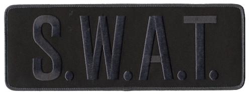 "S.W.A.T. Back Patch, Hook, Grey/Black, 11x4"""