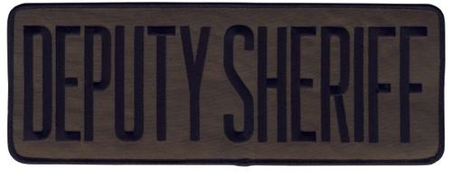 """DEPUTY SHERIFF Back Patch, Hook, Black/O.D., 11x4"""""""