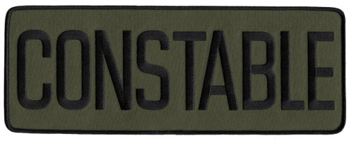 """CONSTABLE Back Patch, Hook, Black/O.D., 11x4"""""""
