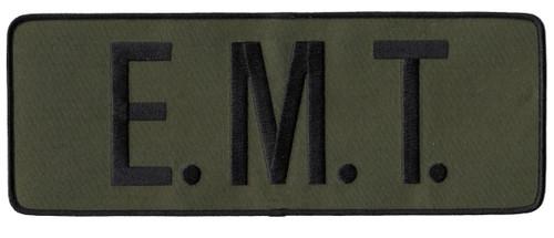 """E.M.T. Back Patch, Hook, Black/O.D., 11x4"""""""