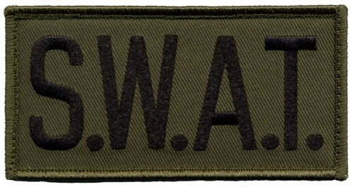 """S.W.A.T. Chest Patch, Hook, Black/O.D., 4x2"""""""