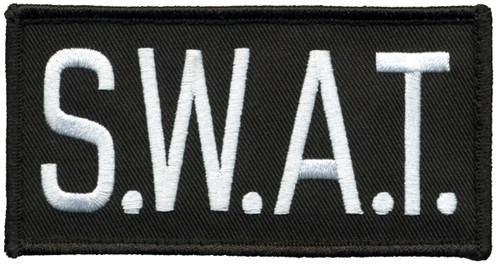 """S.W.A.T.Chest Patch, Hook, White/Black, 4x2"""""""