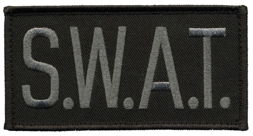 """S.W.A.T.Chest Patch, Hook, Grey/Black, 4x2"""""""
