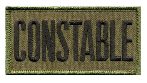 """CONSTABLE Chest Patch, Hook, Black/O.D., 4x2"""""""