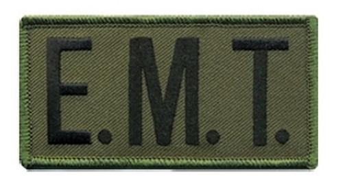 """E.M.T. Chest Patch, Hook, Black/O.D., 4x2"""""""