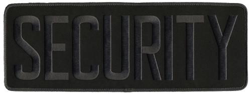 "SECURITY Back Patch, Hook, Grey/Black, 11x4"""