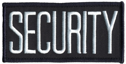 """SECURITY Chest Patch, Hook, White/Midnight Blue, 4x2"""""""