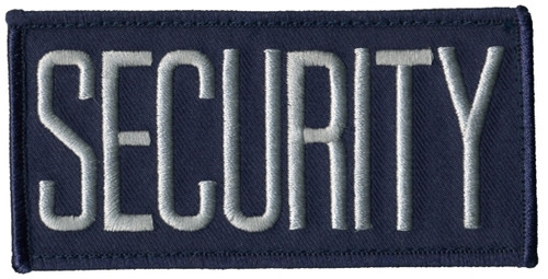 """SECURITY Chest Patch, Hook, Grey/Navy Blue, 4x2"""""""
