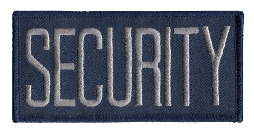 """SECURITY Chest Patch, Hook, Grey/Midnight Blue, 4x2"""""""