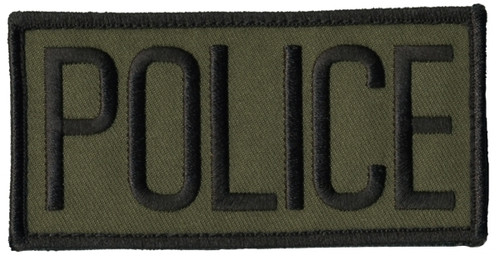 """POLICE Chest Patch, Hook, Black/O.D., 4x2"""""""