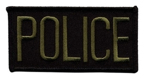 """POLICE Chest Patch, Hook, O.D./Black, 4x2"""""""