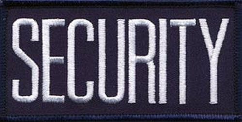 """SECURITY Chest Patch, Hook, White/Navy Blue, 4x2"""""""