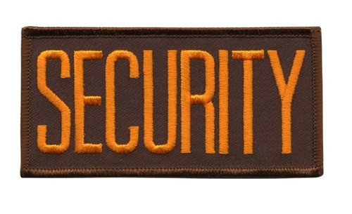"""SECURITY Chest Patch, Hook, Dark Gold/Brown, 4x2"""""""