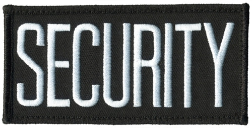"""SECURITY Chest Patch, Hook, White/Black, 4x2"""""""