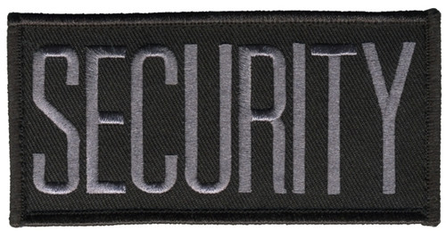 """SECURITY Chest Patch, Hook, Grey/Black, 4x2"""""""