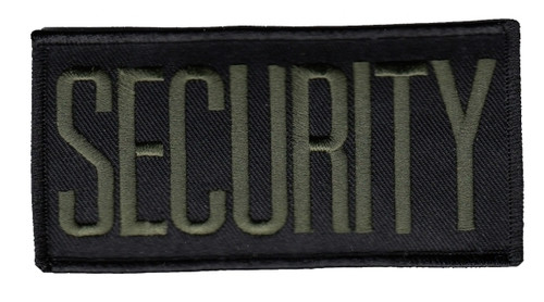 """SECURITY Chest Patch, Hook, O.D./Black, 4x2"""""""