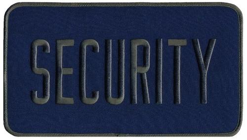 """SECURITY Back Patch, Hook, Grey/Navy Blue, 9x5"""""""