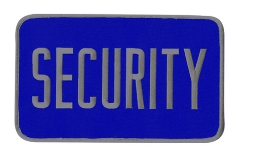"""SECURITY Back Patch, Hook, Grey/Midnight Blue, 9x5"""""""