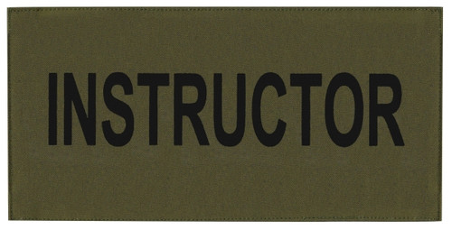 """INSTRUCTOR Chest Patch, Printed, Hook w/Loop, Tactical Stlye, Black/O.D., 5-1/2x2-5/8"""""""