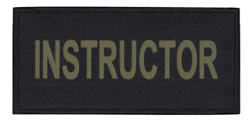 """INSTRUCTOR Chest Patch, Printed, Hook w/Loop, Tactical Stlye, O.D./Black, 5-1/2x2-5/8"""""""