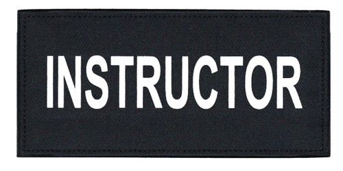 """INSTRUCTOR Chest Patch, Printed, Hook w/Loop, Tactical Stlye, White/Midnight, 5-1/2x2-5/8"""""""