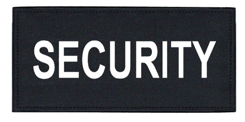 """SECURITY Chest Patch, Printed, Hook w/Loop, Tactical Stlye, White/Midnight, 5-1/2x2-5/8"""""""