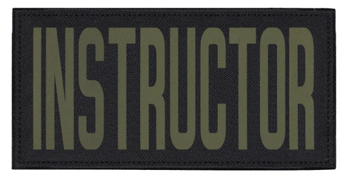 """INSTRUCTOR, Back Patch, Printed, Hook w/Loop, Tactical Style, O.D./Black, 11x5-1/2"""""""