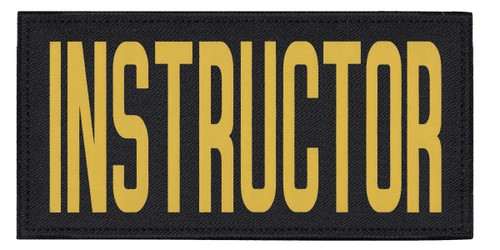 """INSTRUCTOR, Back Patch, Printed, Hook w/Loop, Tactical Style, Gold/Black, 11x5-1/2"""""""