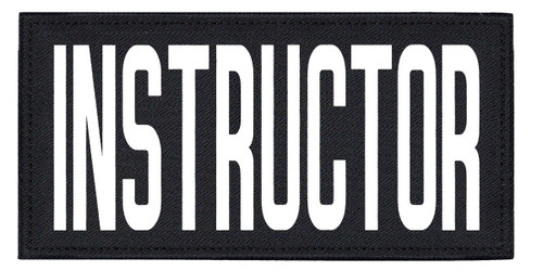 """INSTRUCTOR, Back Patch, Printed, Hook w/Loop, Tactical Style, White/Midnight, 11x5-1/2"""""""