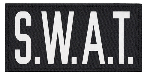 """S.W.A.T., Back Patch, Printed, Hook w/Loop, Tactical Style, O.D./Black, 11x5-1/2"""""""