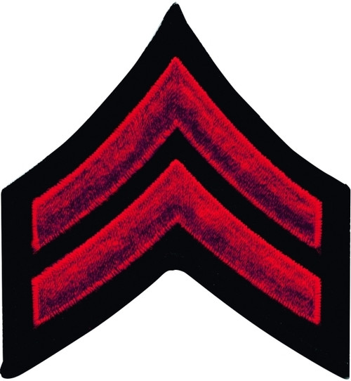 "CPL Chevrons, Merrowed Border, Red/Black, 3"" Wide"