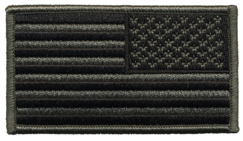 "U.S. Flag Patch, Reverse, Foliage/ACU, 3-1/4x1-13/16"""
