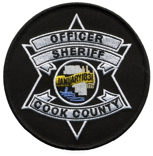 """COOK COUNTY SHERIFF, OFFICER Shoulder Patch, 4"""" Circle"""