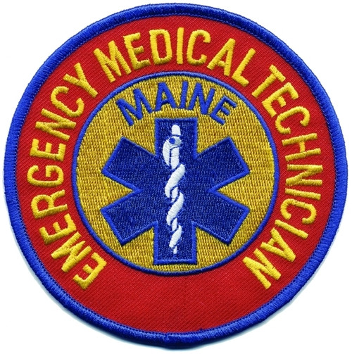 """MAINE EMERGENCY MEDICAL TECHNICIAN Shoulder Patch, 4"""" Circle"""