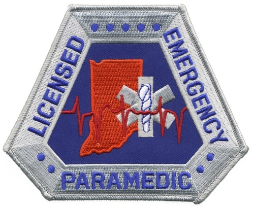 """IN - LICENSED EMERGENCY PARAMEDIC Shoulder Patch, 5x4"""""""