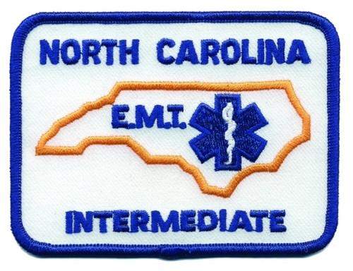 """NORTH CAROLINA INTERMEDIATE Shoulder Patch, Blue, 4x3"""""""