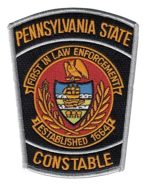"""PENNSYLVANIA STATE CONSTABLE Shoulder Patch, 3-3/4x4-7/8"""""""